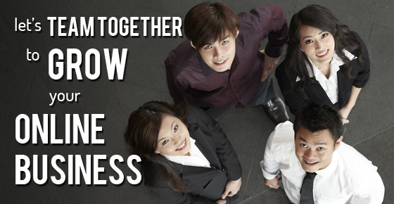Let's team together to grow your online business